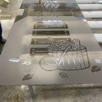 закаленные стекла с пескоструйным рисунком 2