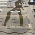закаленные стекла с пескоструйным рисунком 3
