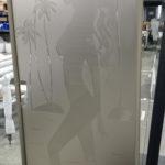 закаленные стекла с пескоструйным рисунком 6
